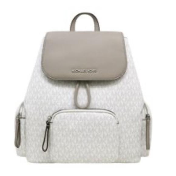 Michael Kors Handbags - Michael Kors Abbey Lg Bright White Cargo Backpack